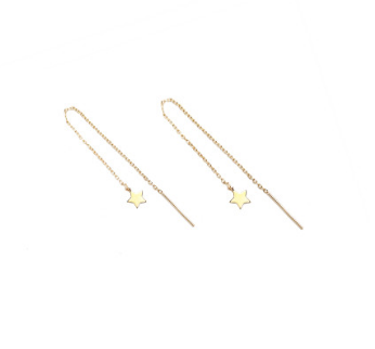 Carly Paiker Star Threader Earrings Gold