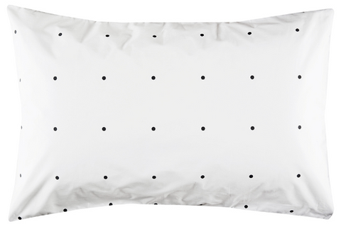 CASTLE Charcoal Pegboard Pillowcase