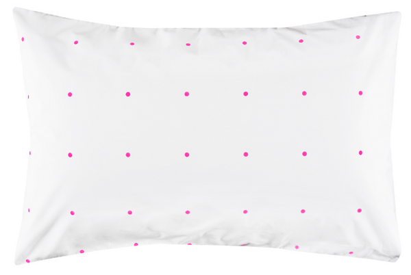 CASTLE Fluro Pink Pegboard Pillowcase