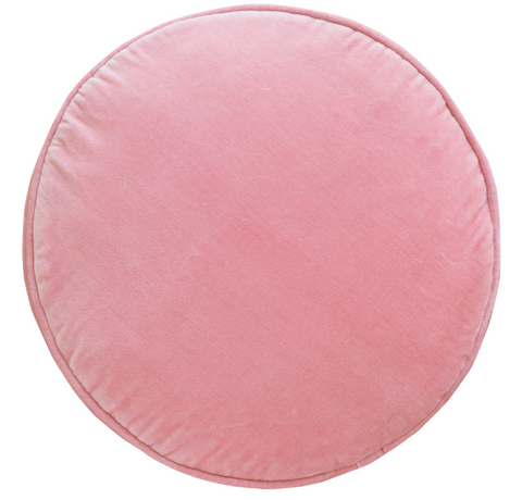 CASTLE Baby Pink Velvet Penny Round