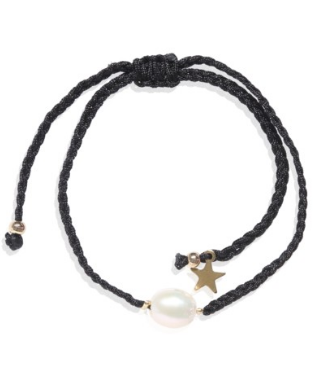 Carly Paiker Capella Rope Bracelet Black