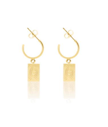 Carly Paiker Protection Eye Hoops - Gold