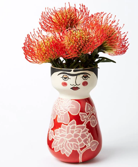 Rosy Frida Face Vase - ***in-store only