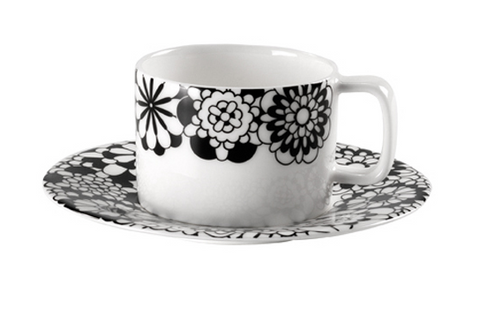 Missoni Home Bianconero Tea Cup & Saucer