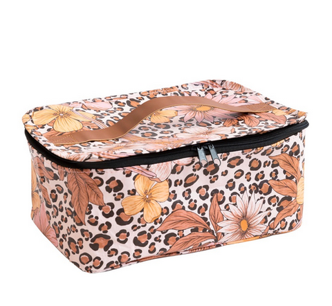 Kollab Toiletry Stash Bag Leopard Floral