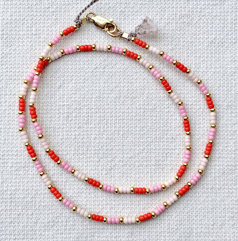 Strawberry Fields Fine Bead Choker/Necklace