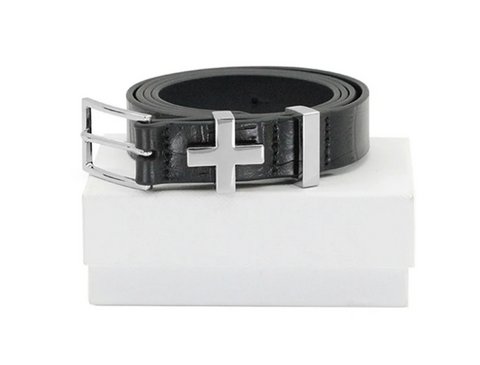 Dylan Kain The Brooklyn Croc Belt Silver