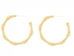Jolie & Deen Cane Hoop Earrings