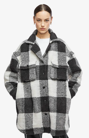Anine Bing Maeve Jacket - Buffalo Cream Check