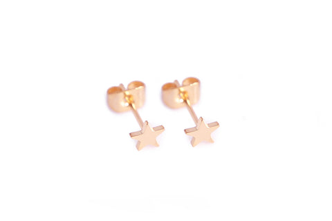 Carly Paiker Tiny Star Studs Rose Gold