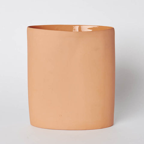 Mud Oval Vase Large Orange