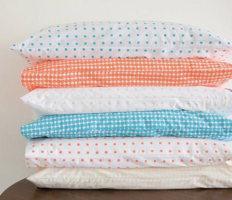 CASTLE Fluro Orange Spot Pillowcase