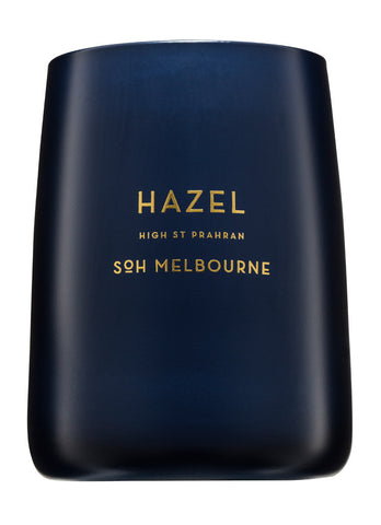SOH Hazel Navy Matte Glass Candle