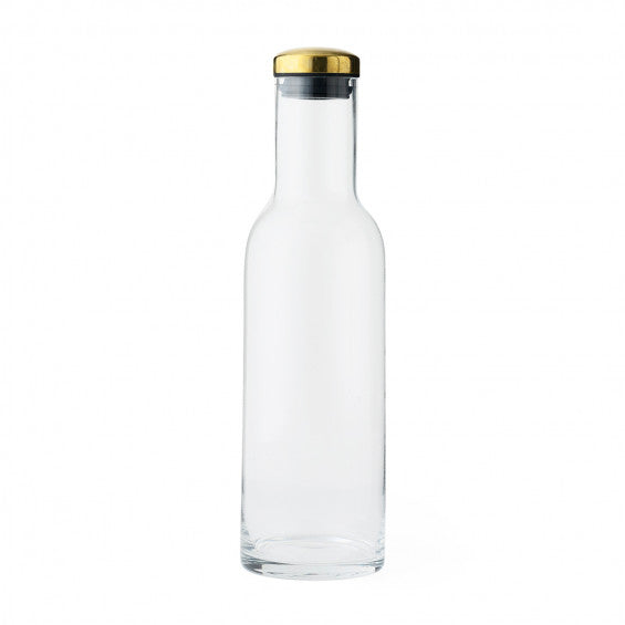 Menu Bottle Carafe with Brass Lid - 1Litre