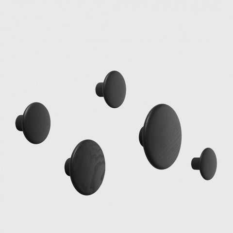 Muuto Wall Dot Sets (x5) - Black