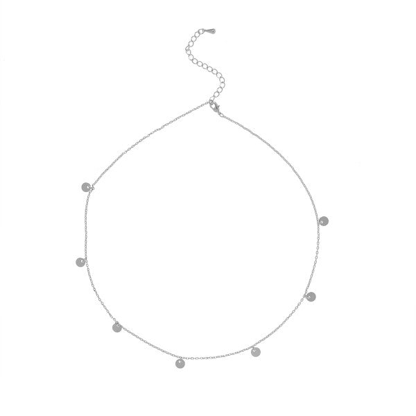 Carly Paiker Coin Charm Necklace - Silver