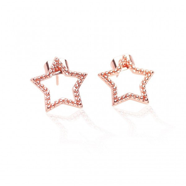 Carly Paiker Dotted Star Studs Rose Gold