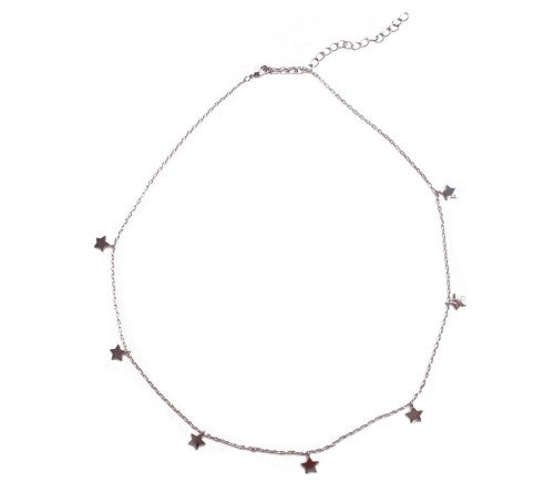 Carly Paiker Delicate Star Charm Necklace Silver