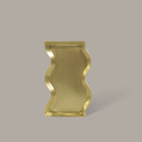Black Blaze Wave Brass Candle Tray