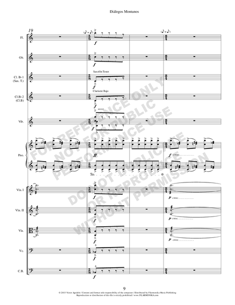 Diálogos montunos, for piano and orchestra