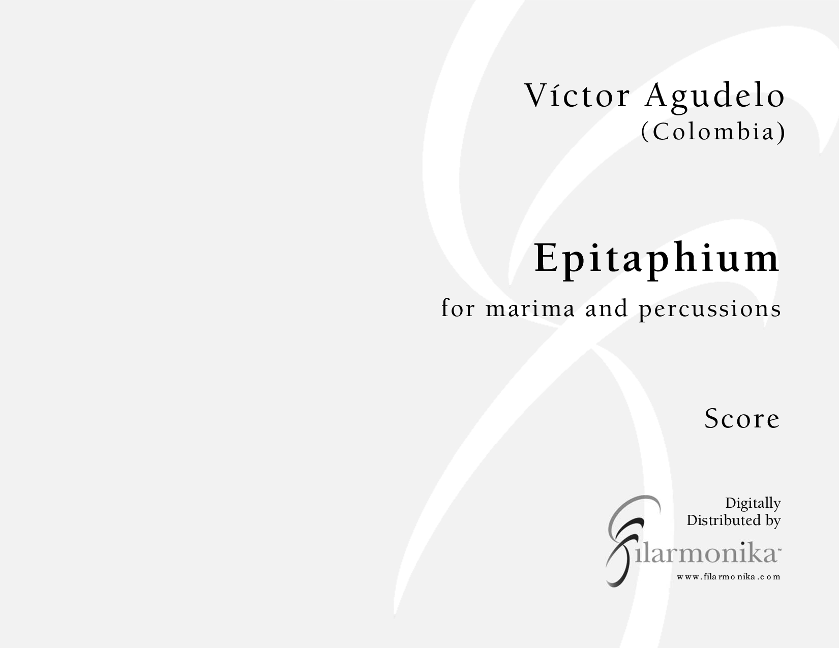 Epitaphium, for marimba and percussion