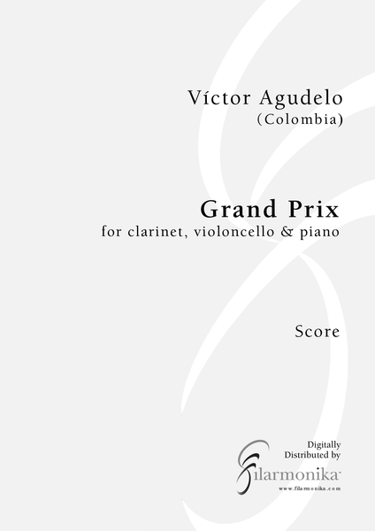 Grand prix, for clarinet, cello, and piano