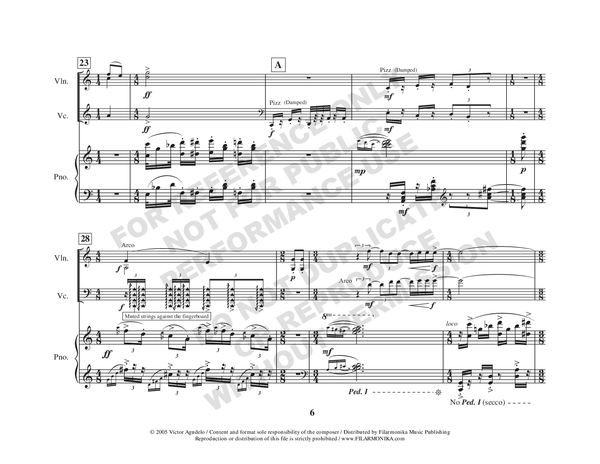 Kaleidoscopio, for violin, cello and piano