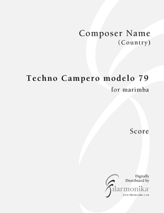 Techno Campero modelo 79, for marimba