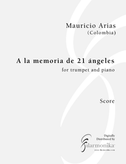 A la memoria de 21 ángeles, for trumpet and piano