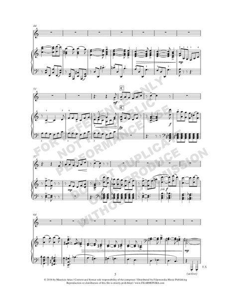 Variaciones fantásticas sobre 'La guaneña', for trumpet and piano