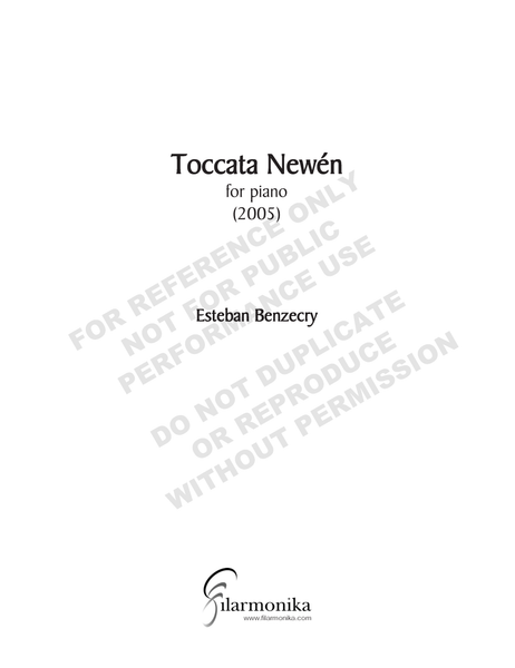 Tocata Newén, for solo piano