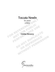 Toccata newén, for solo piano