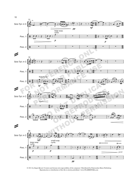 Andares, for trumpet and orchestra
