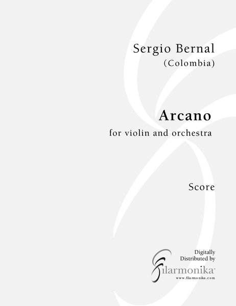 Arcano, for violin and orchestra