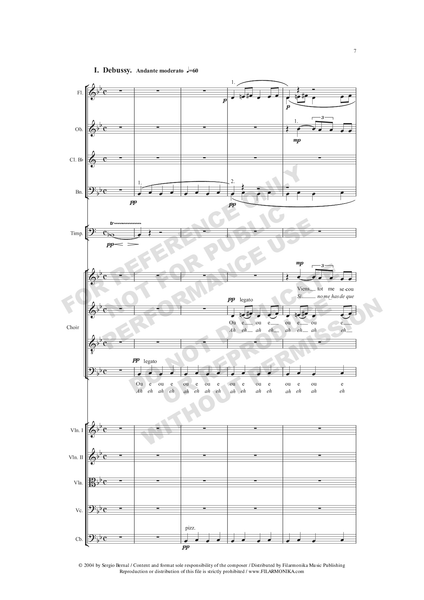 "Variaciones sobre la pavana ""Belle qui tiens ma vie"", for choir and orchestra"