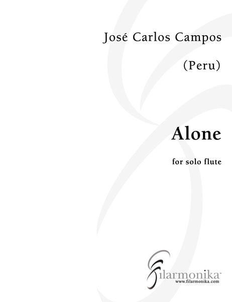 Alone, conversations with oneself, for solo flute