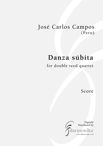 Danza súbita, for double reed quartet
