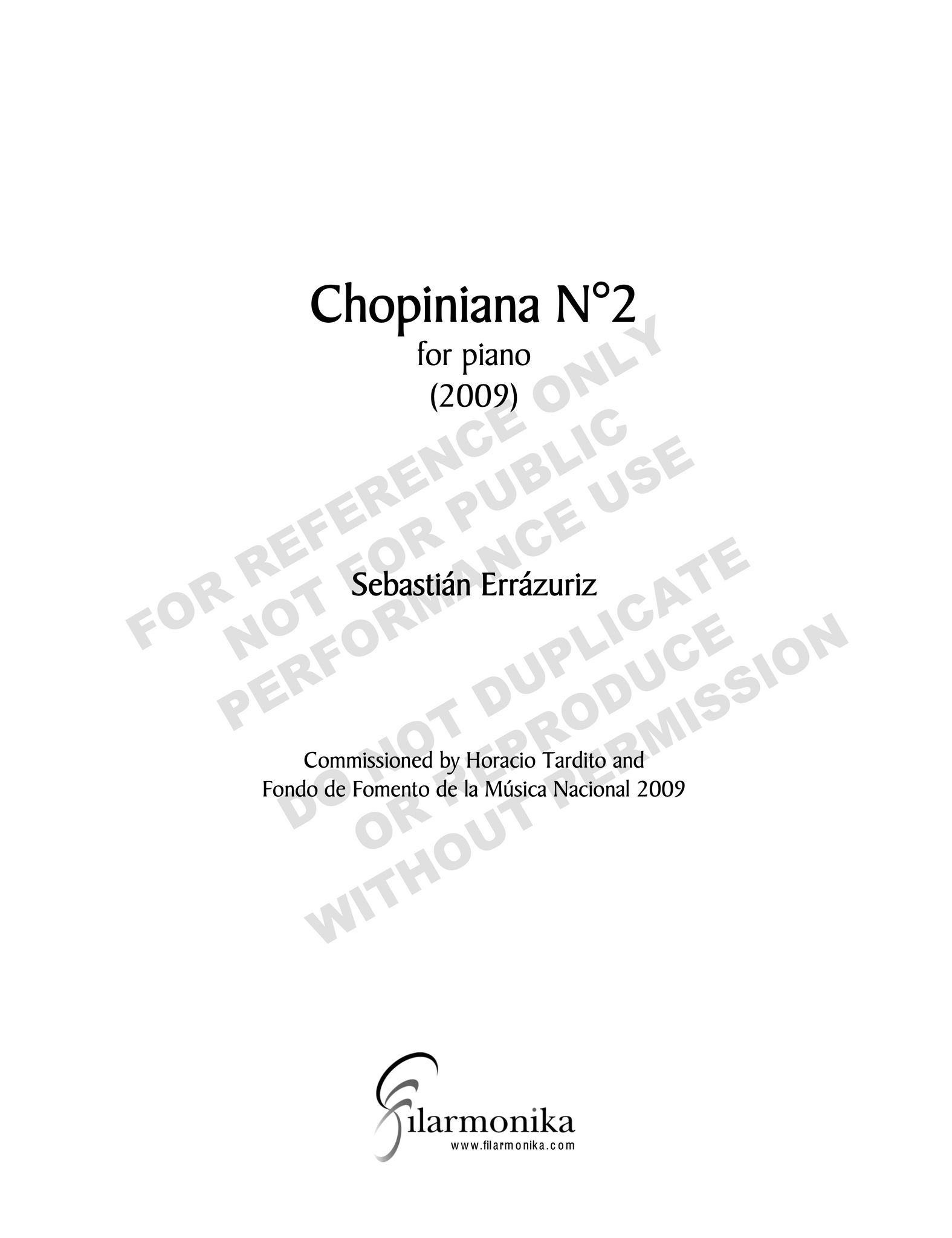 Chopiniana Nº 2, for solo piano