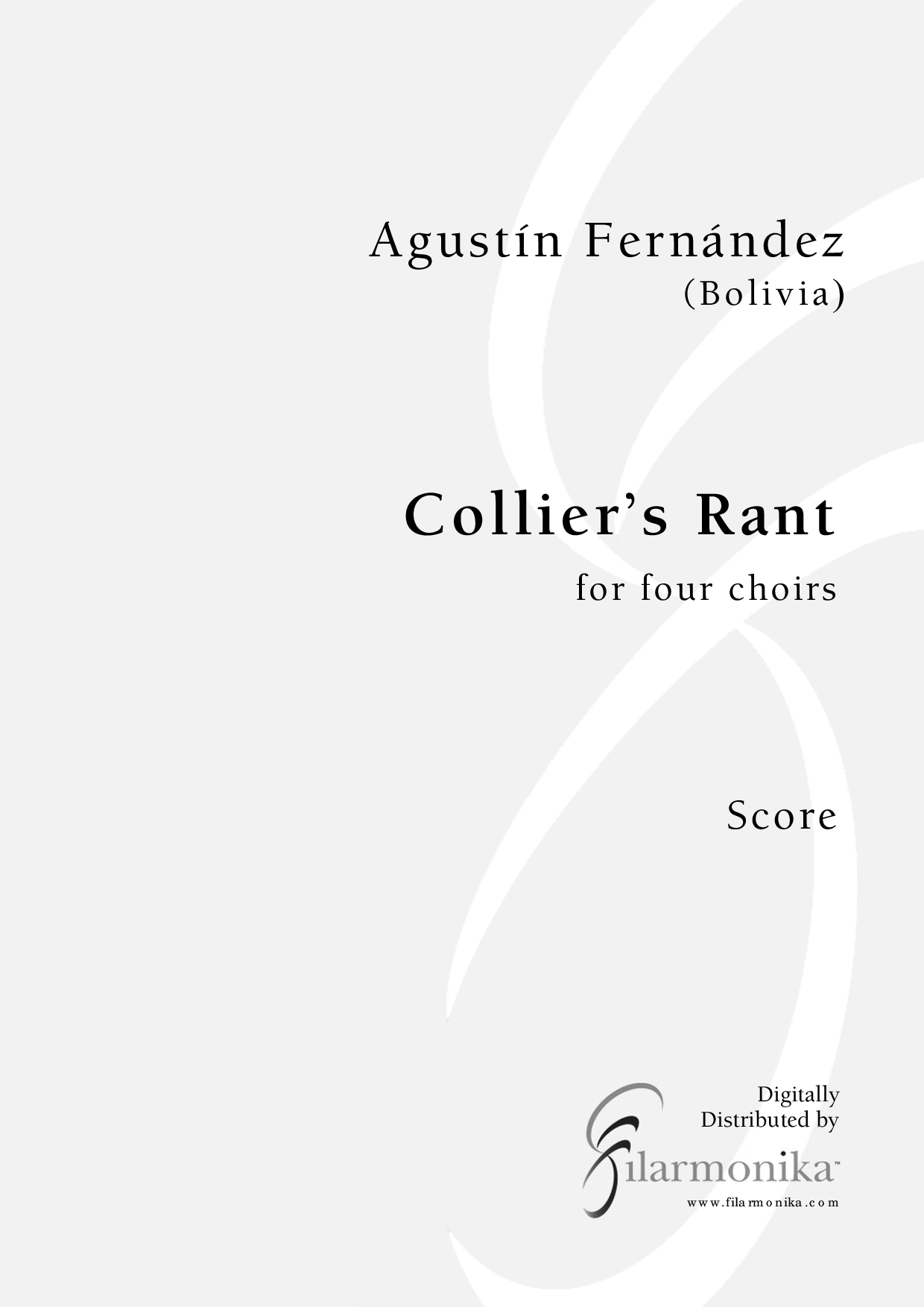 Collier's Rant, for 4 choirs