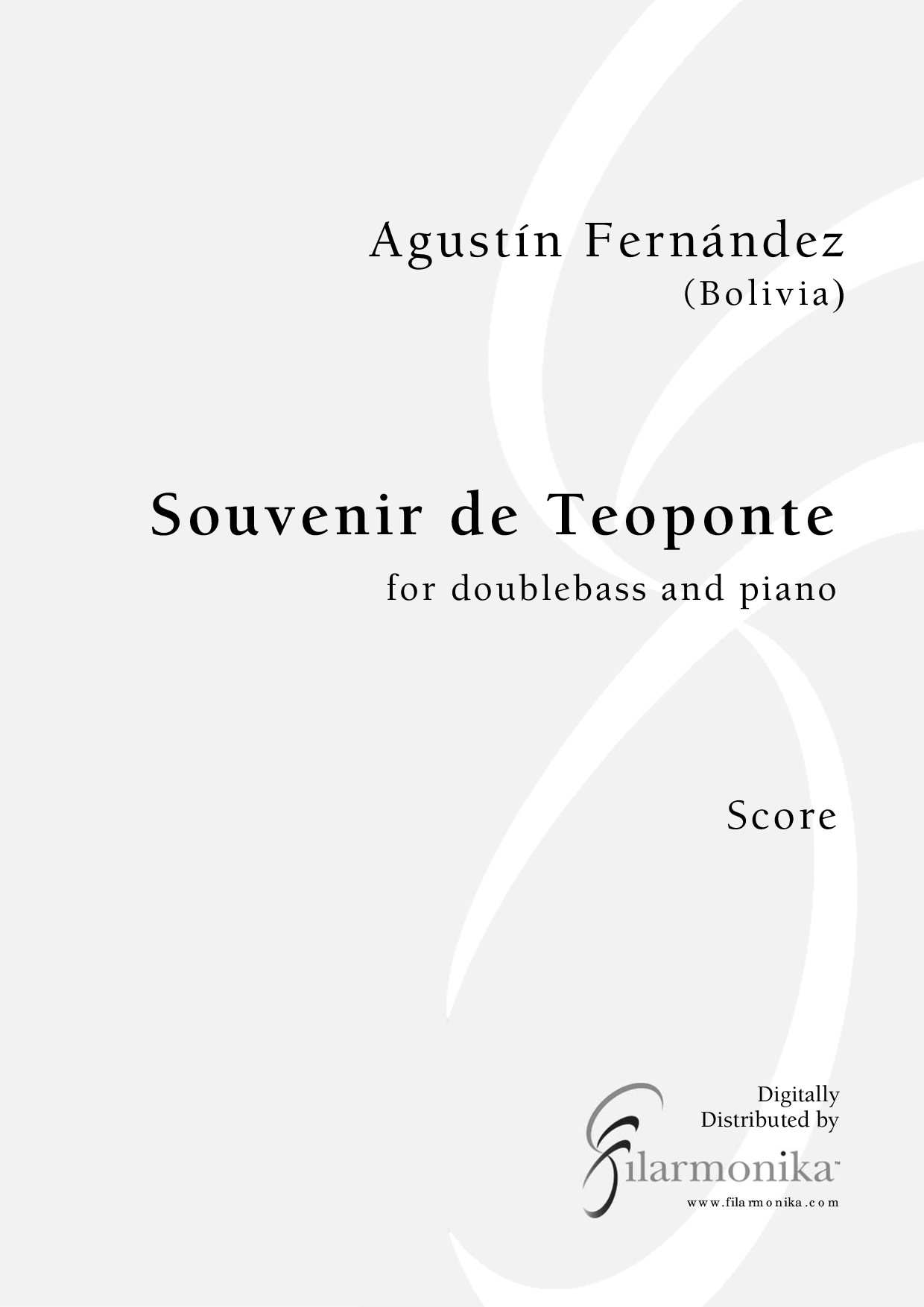 Souvenir de Teoponte, for double bass and piano