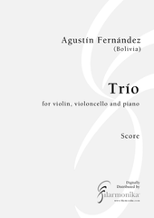 Trío, for violin, cello, and piano