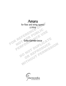 Amaru, for flute and string quartet
