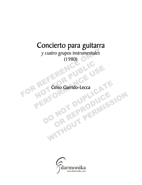 Concerto for guitar and four instrumental groups