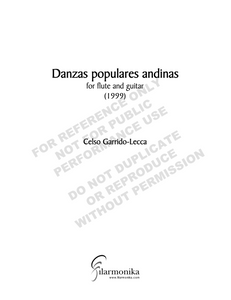 Danzas populares andinas, for flute and guitar