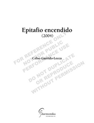 Epitafio encendido, for narrator and orchestra