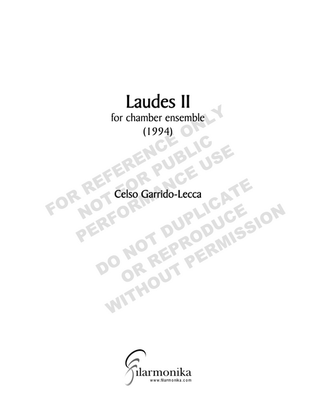 Laudes II, for chamber ensemble