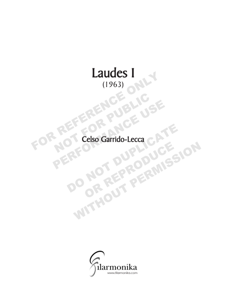 Laudes I, for orchestra