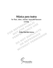 Música para teatro, for woodwind quintet