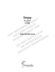 Simpay, for solo guitar