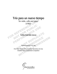 Trío para un nuevo tiempo, for violin, cello and piano